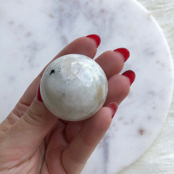 Rainbow Moonstone Sphere 04