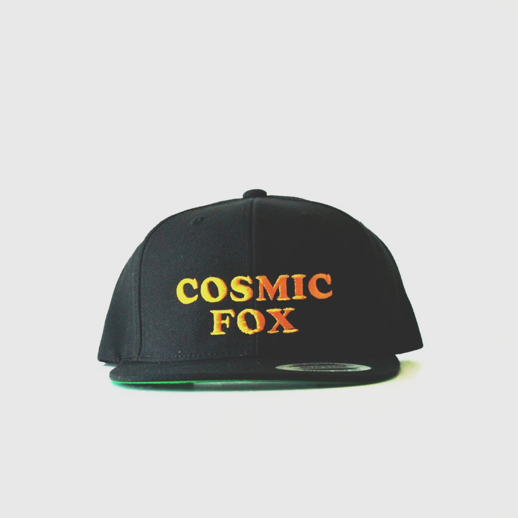 COSMIC FOX Gold Embroidered Black Snapback