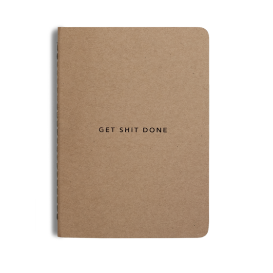 Get Shit Done Minimal A6, Notebook, Teamgift