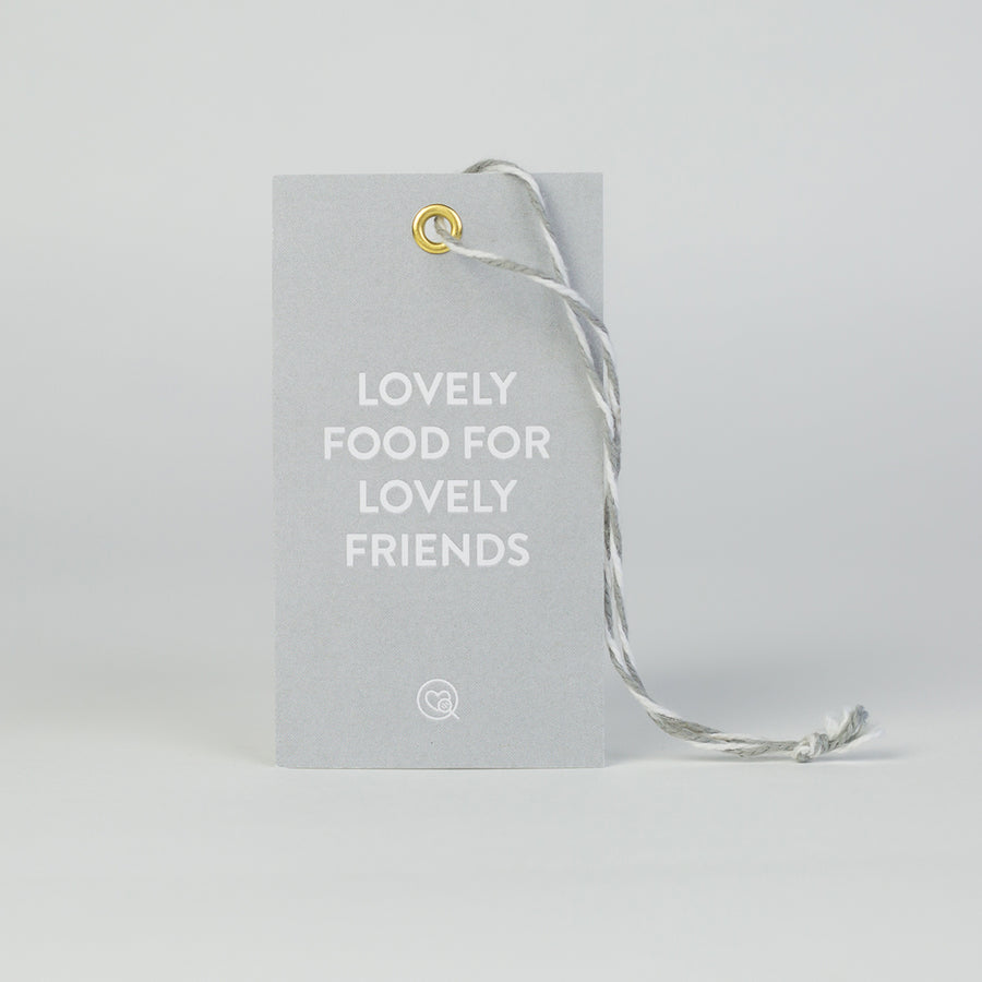 "Gift Tag | ""Lovely Food For Lovely Friends"""