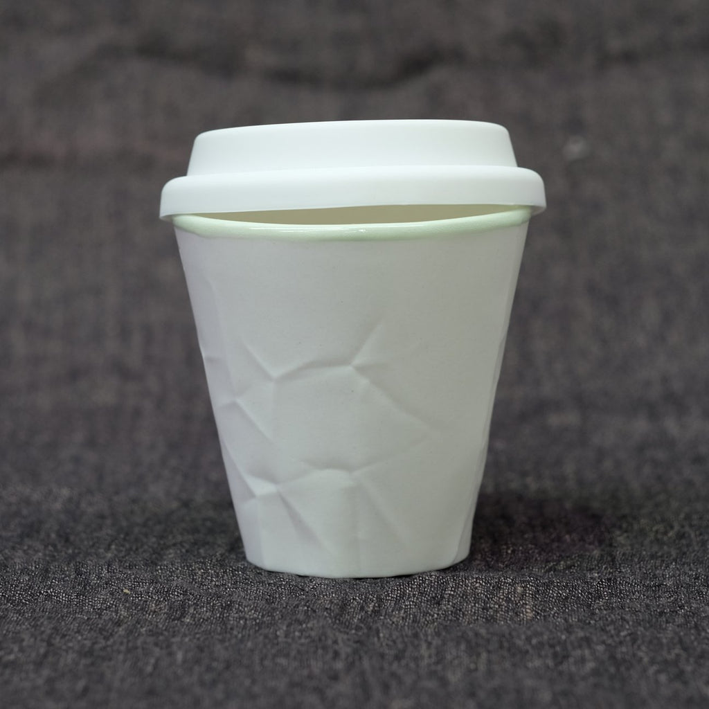 "The ""Keep Cup"" from the Paper Series handmade by Sydney Artist ""Hayden Youlley"". Available in 12 different colors at www.coolfoodstuff.com"