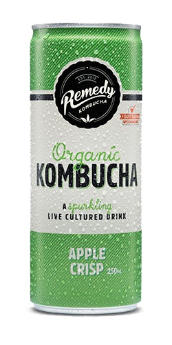 1 can of Kombucha 250ml, flavored sparkling refreshing drink without sugar, super healthy and gut friendly. Available at www.coolfoodstuff.com