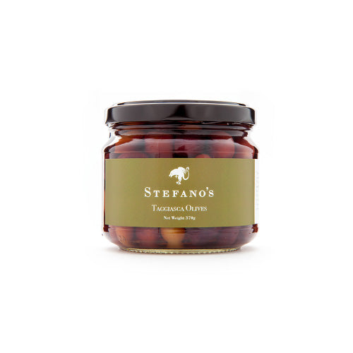 a jar filled with olives taggiasca, The Stefano's range of pasta sauces and chutneys are a proven premium offering in their respective categories, with a loyal and fanatical following.