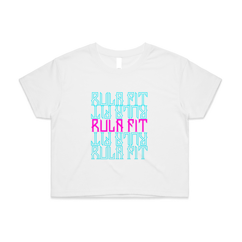 Non Stop Crop Top- White - RULA FIT