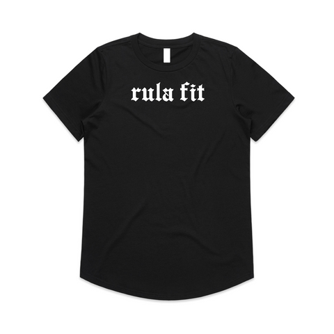BOY FRIEND STAPLE TEE-Black - RULA FIT