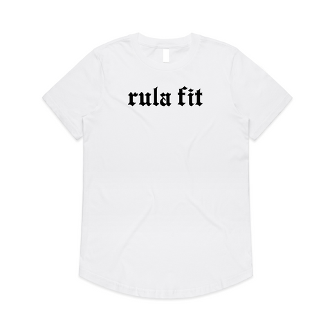 BOY FRIEND STAPLE TEE-WHITE - RULA FIT