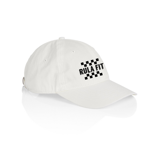 Checkered Rula Fit Logo Cap-White - RULA FIT