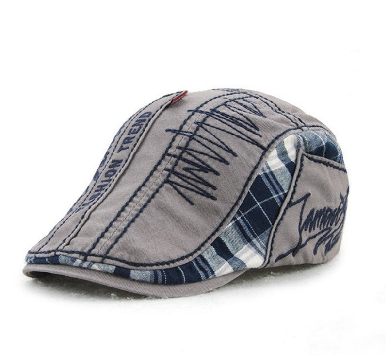 Factory Outlet Fashion Unisex Men Newsboy Cabbie Gatsby Flat Cap Cotton Golf Beret Patchwork Hats