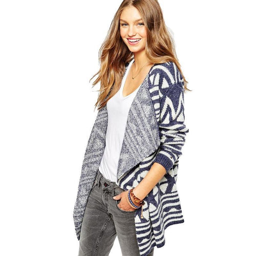 Big Wrap Collar Cardigan Sweater