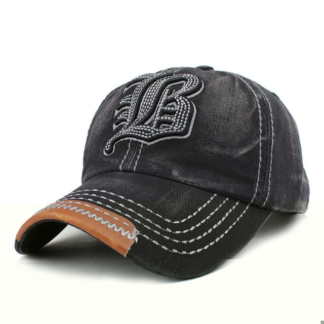 Cotton Embroidery Letter W Baseball Cap