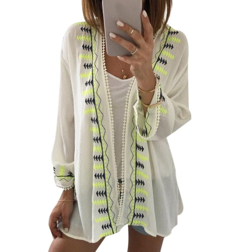 Shawl Chiffon Long Sleeve Cover Up