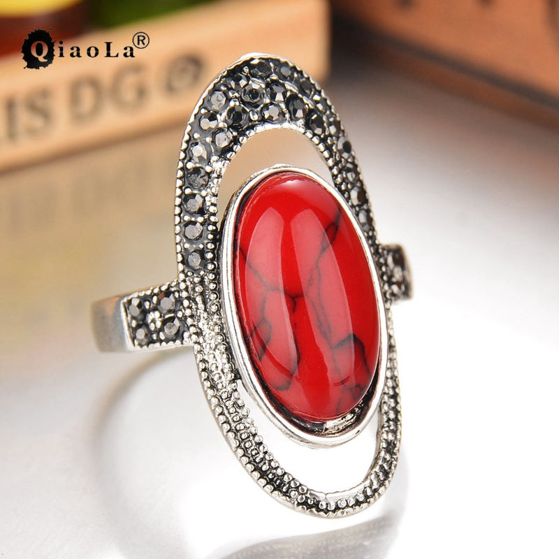 Mosaic Retro Plated Stone Ring