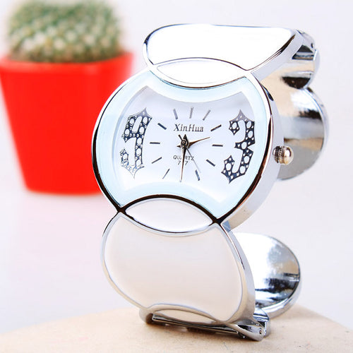 Women Stainless Steel  Stylish Chic Bracelet Watch