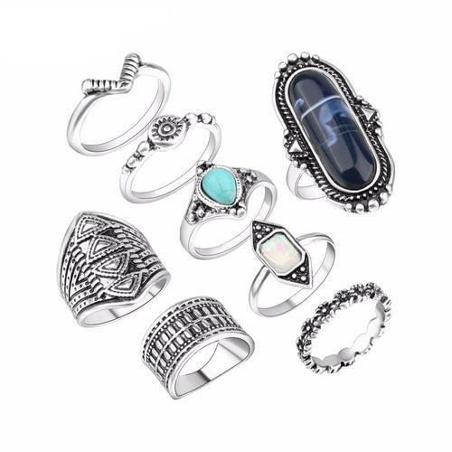 Luxury Vintage Finger Joint Rings (8 pieces)
