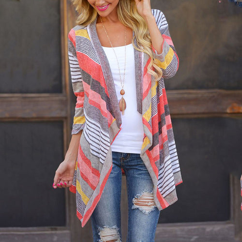 Feminino Knitted Cardigan Sweater Poncho