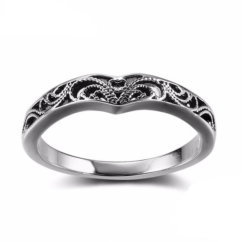 Beatnik Victorian Sterling Silver Ring