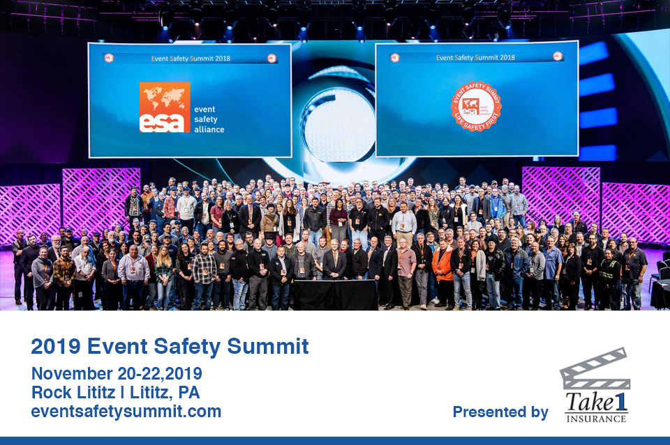 REGISTRATION NOW OPEN FOR 2019 EVENT SAFETY SUMMIT