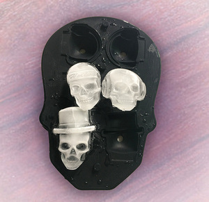 Fancy Skulls Ice Cubes
