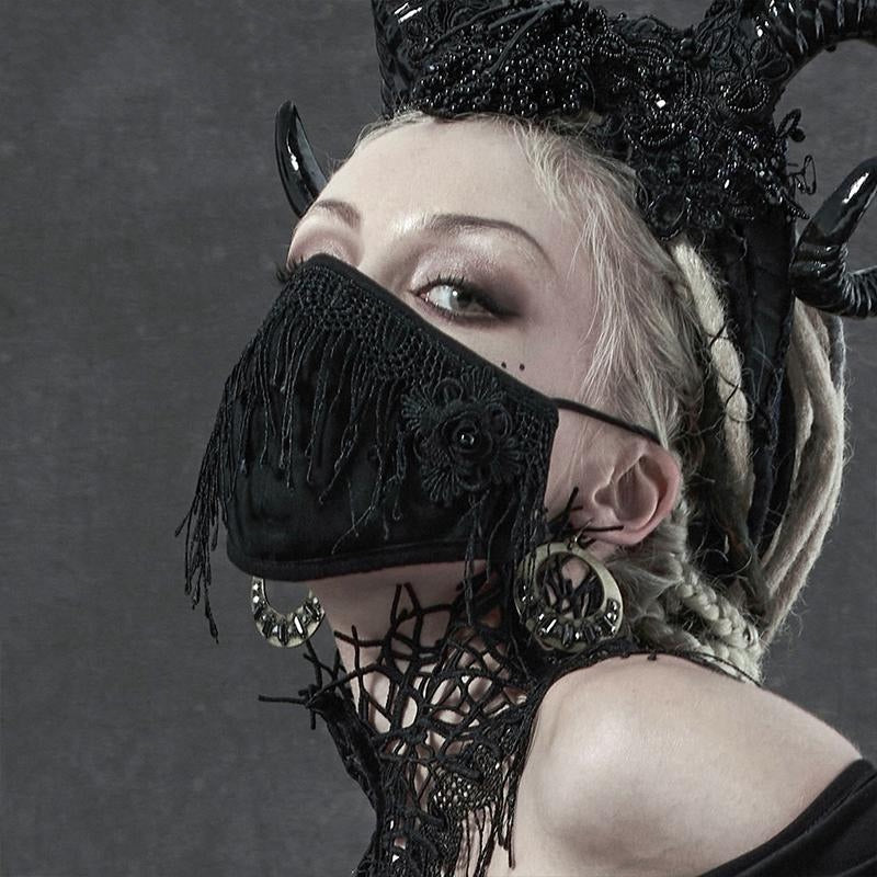 Trad Goth Rose Face Mask