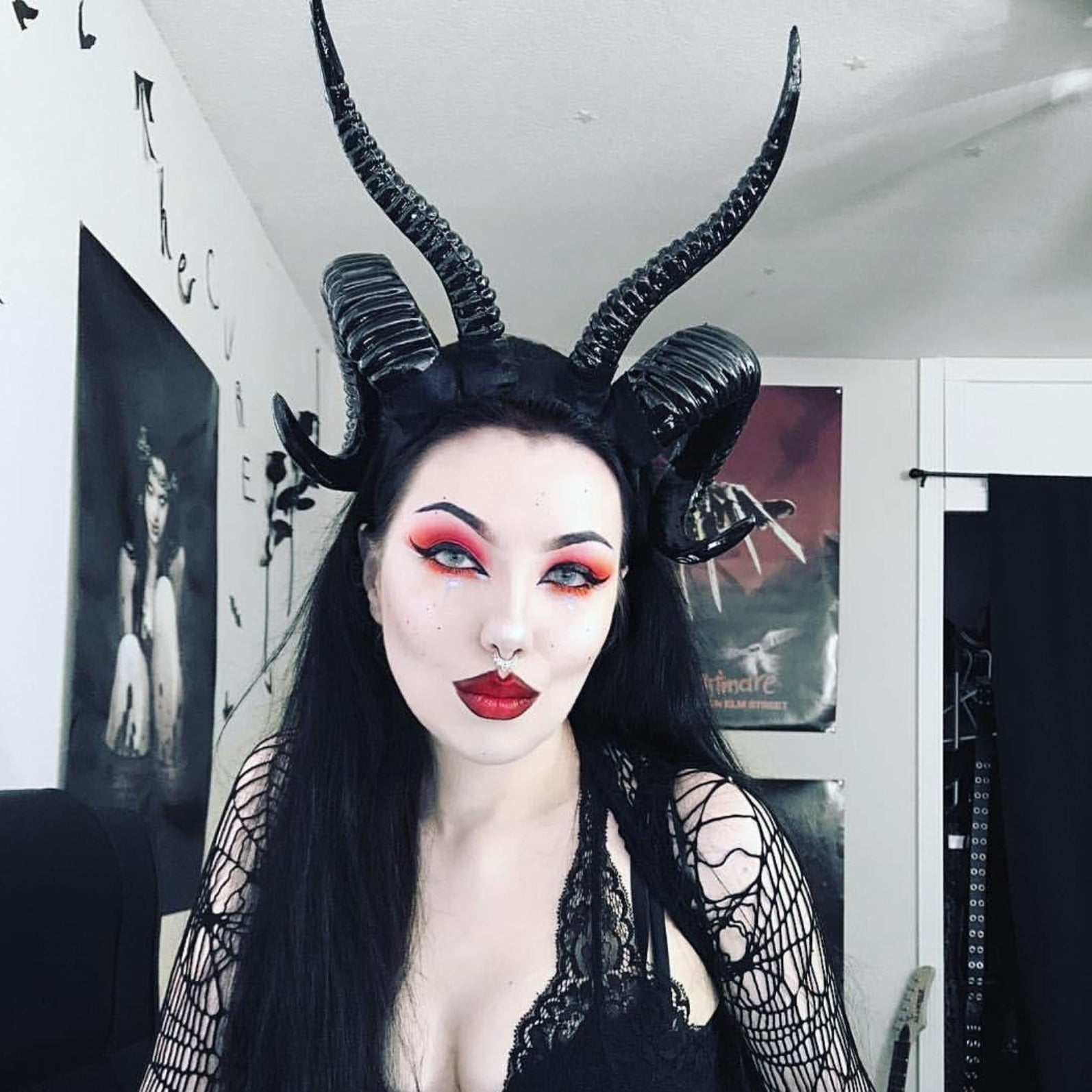 The Baphomet Horns Headpiece - Goth Mall