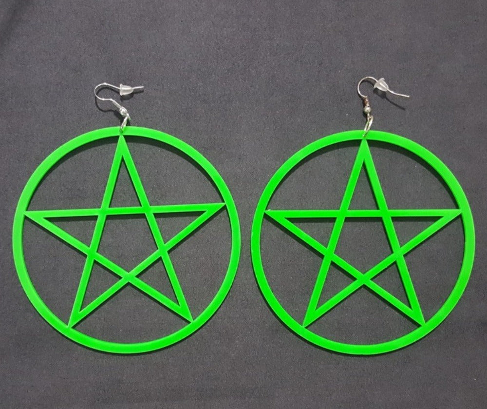 The Oversized Pentacle Earrrings
