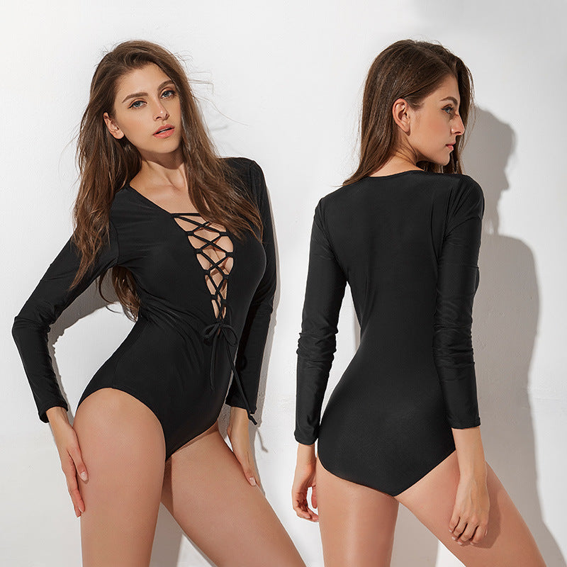 Black Laced Bodysuit - Goth Mall