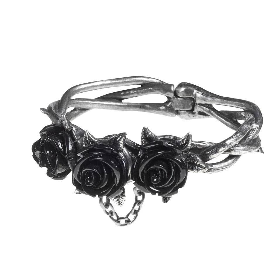 Wild Black Rose Bracelet - Goth Mall
