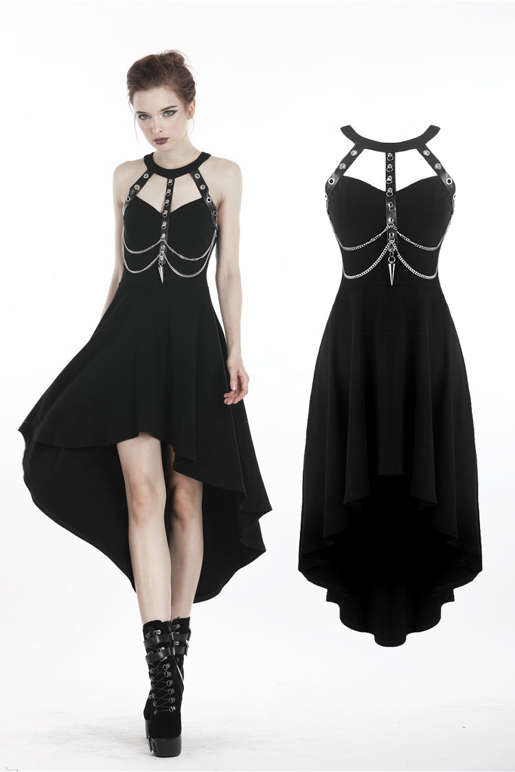 The Veronicka Harness Dress - Goth Mall