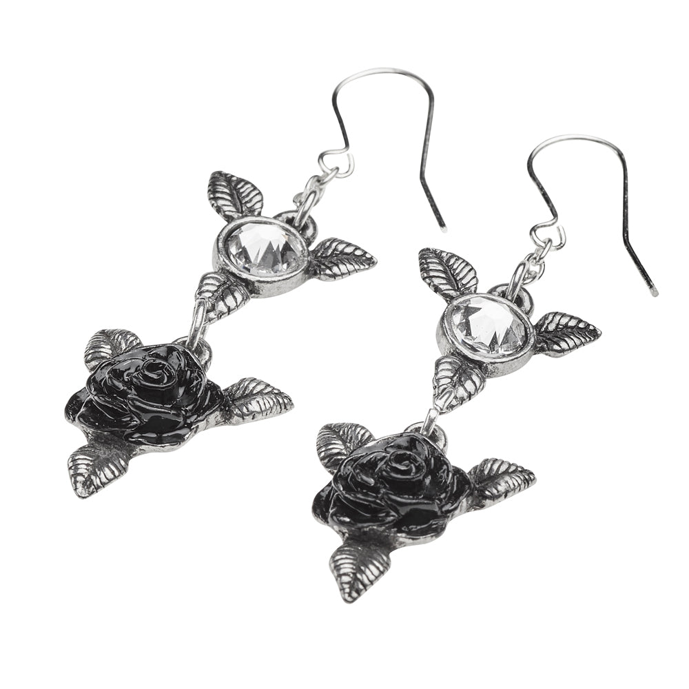 Bacchanal Rose Earrings - Goth Mall