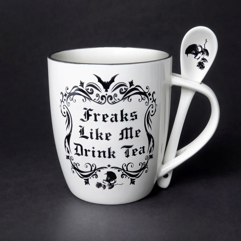 'Freaks Like Me' Mug & Spoon Set - Goth Mall