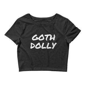 Goth Dolly - Sexy Cropped Goth Tee Shirt - Goth Mall