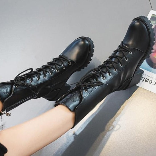 Military Madam Boots - Goth Mall
