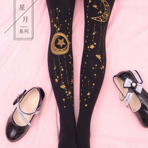 Harajuku Dark Space Tights - Goth Mall