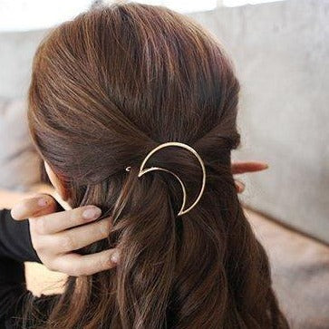Witchy Crescent Moon Hair Clip image