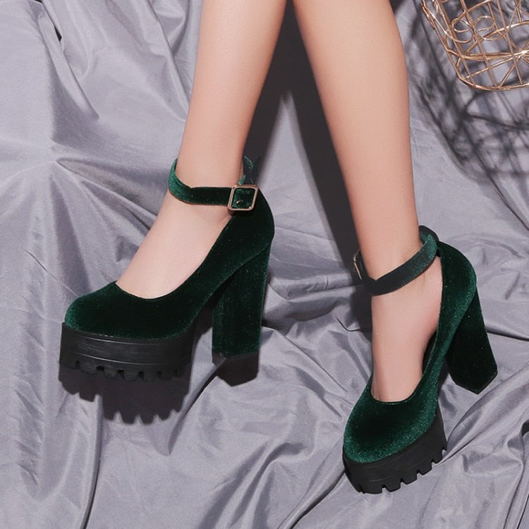 The Velvet Xtra Chunky Platforms