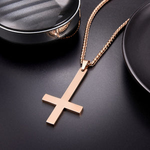 Inverted Cross Necklace - Goth Mall