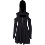 Sexy Hoodie Dress - Goth Mall