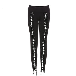 Gothic Laced Corset Leggings - Goth Mall