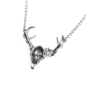 White Hart Black Rose Necklace - Goth Mall