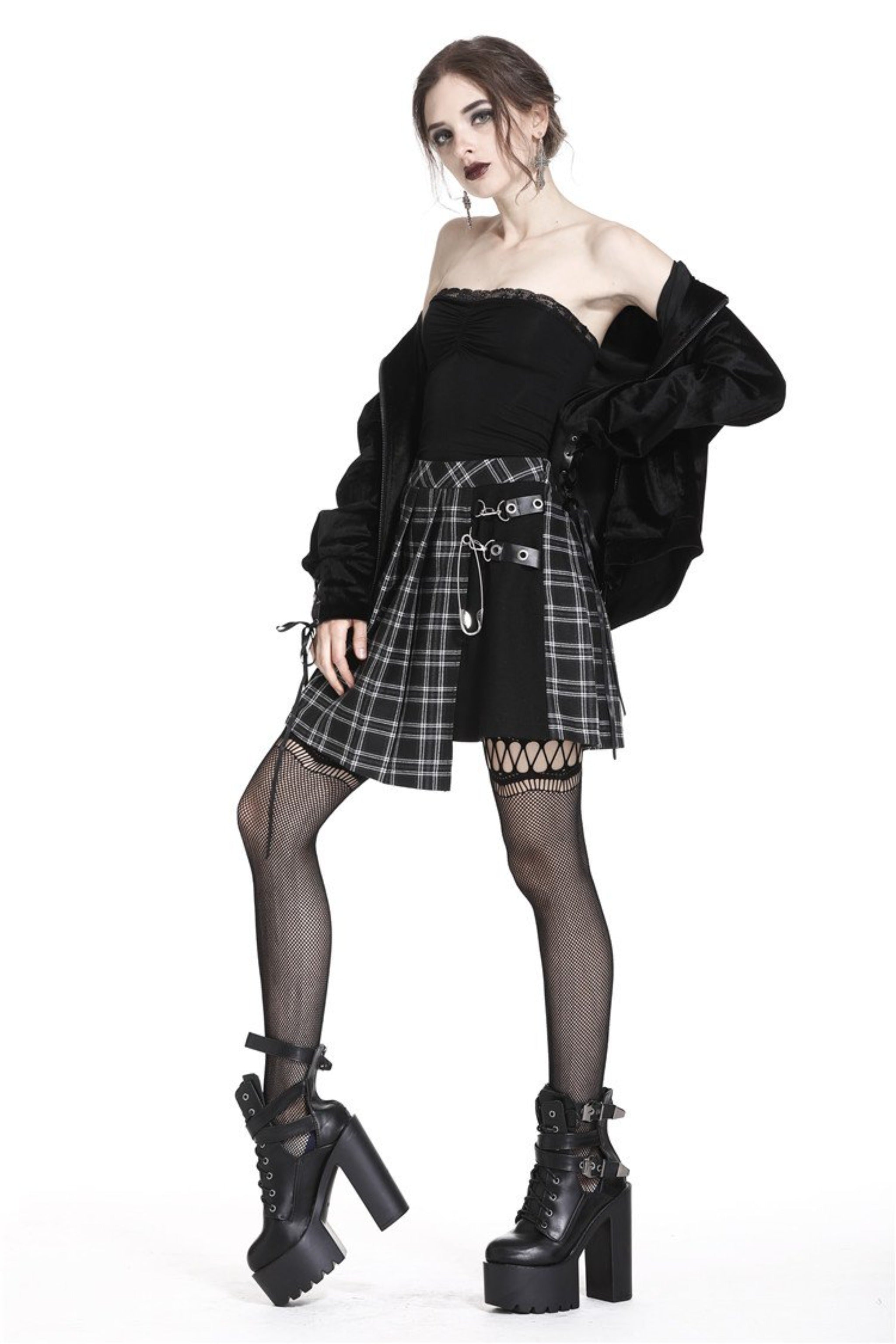 The Punk Plaid Skirt - Goth Mall