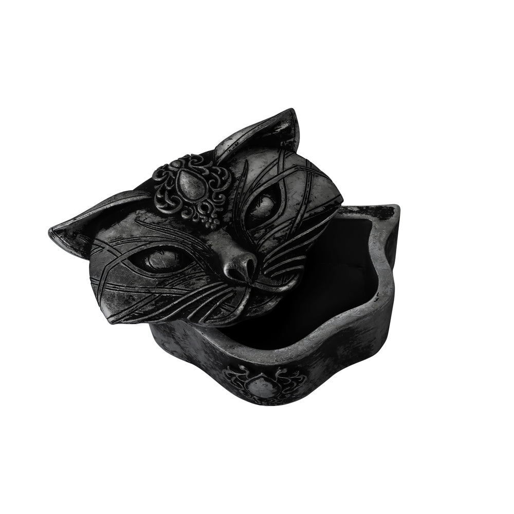 Sacred Cat Trinket Dish in Black