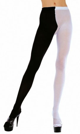 Two Tone Tights - Goth Mall