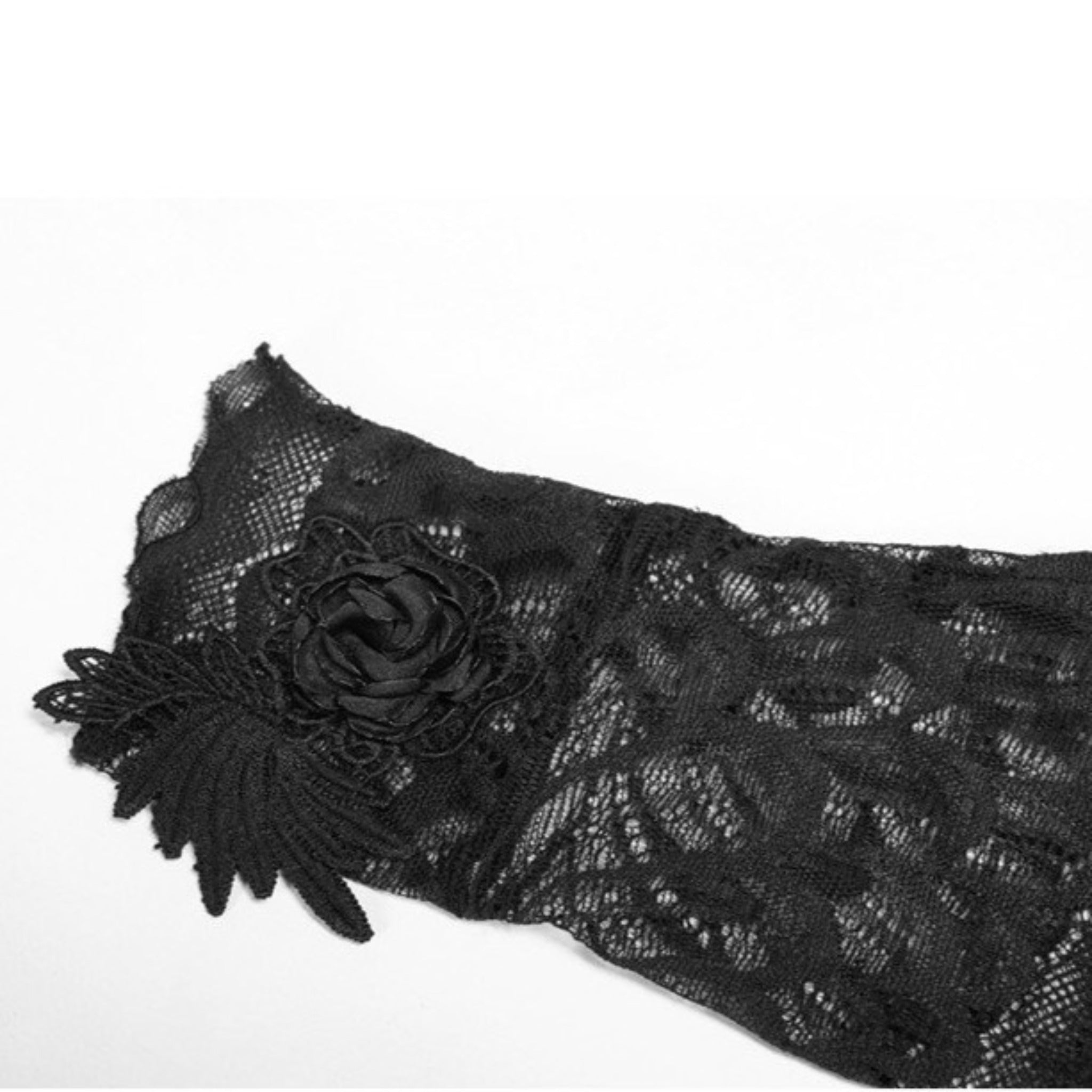 Aerial Feathers Gloves - Goth Mall