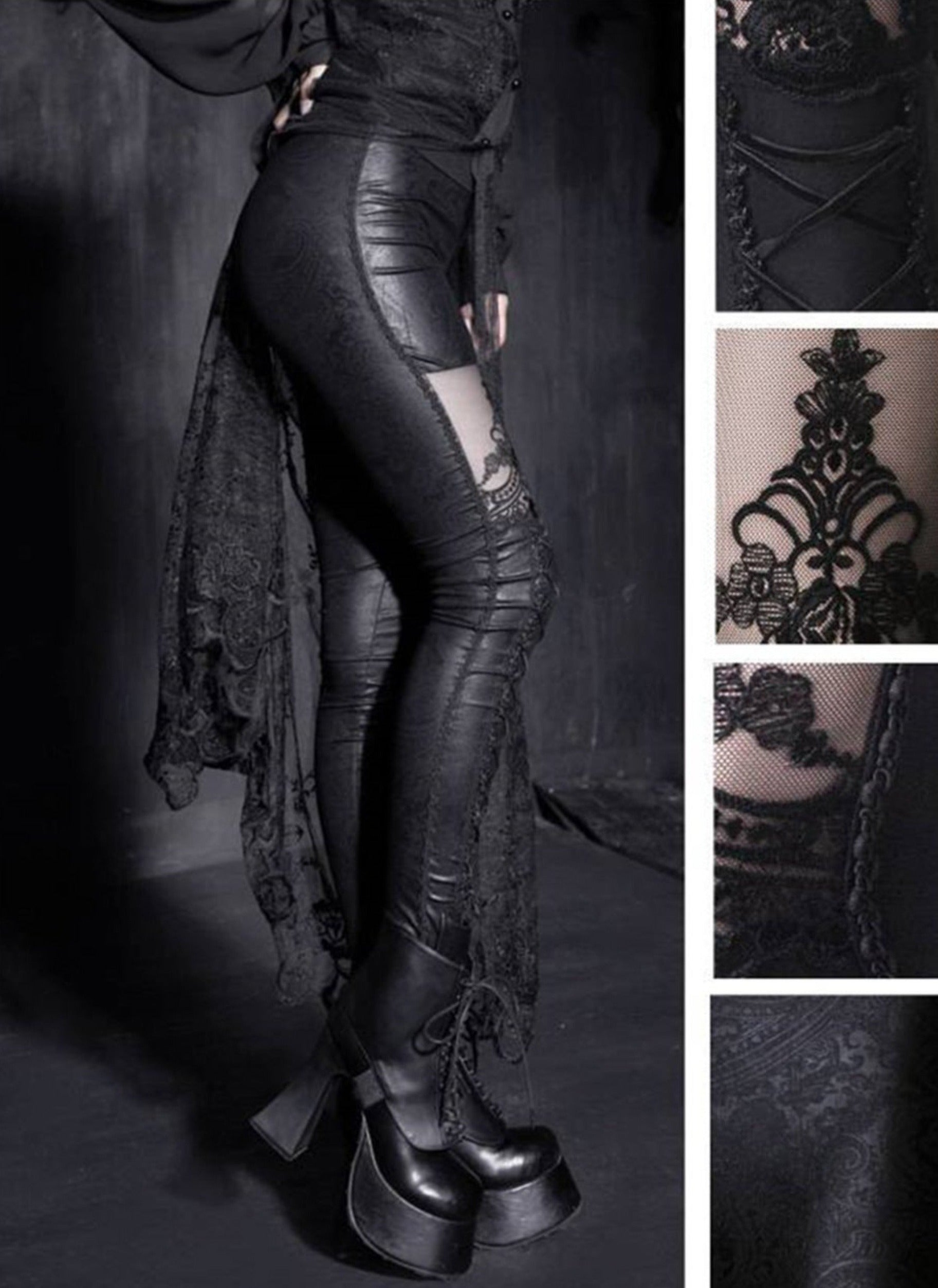 The Gothic Corset Leggings - Goth Mall