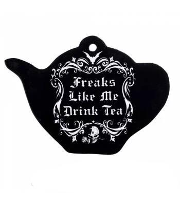 """Freaks Like Me Drink Tea"" Mat - Goth Mall"