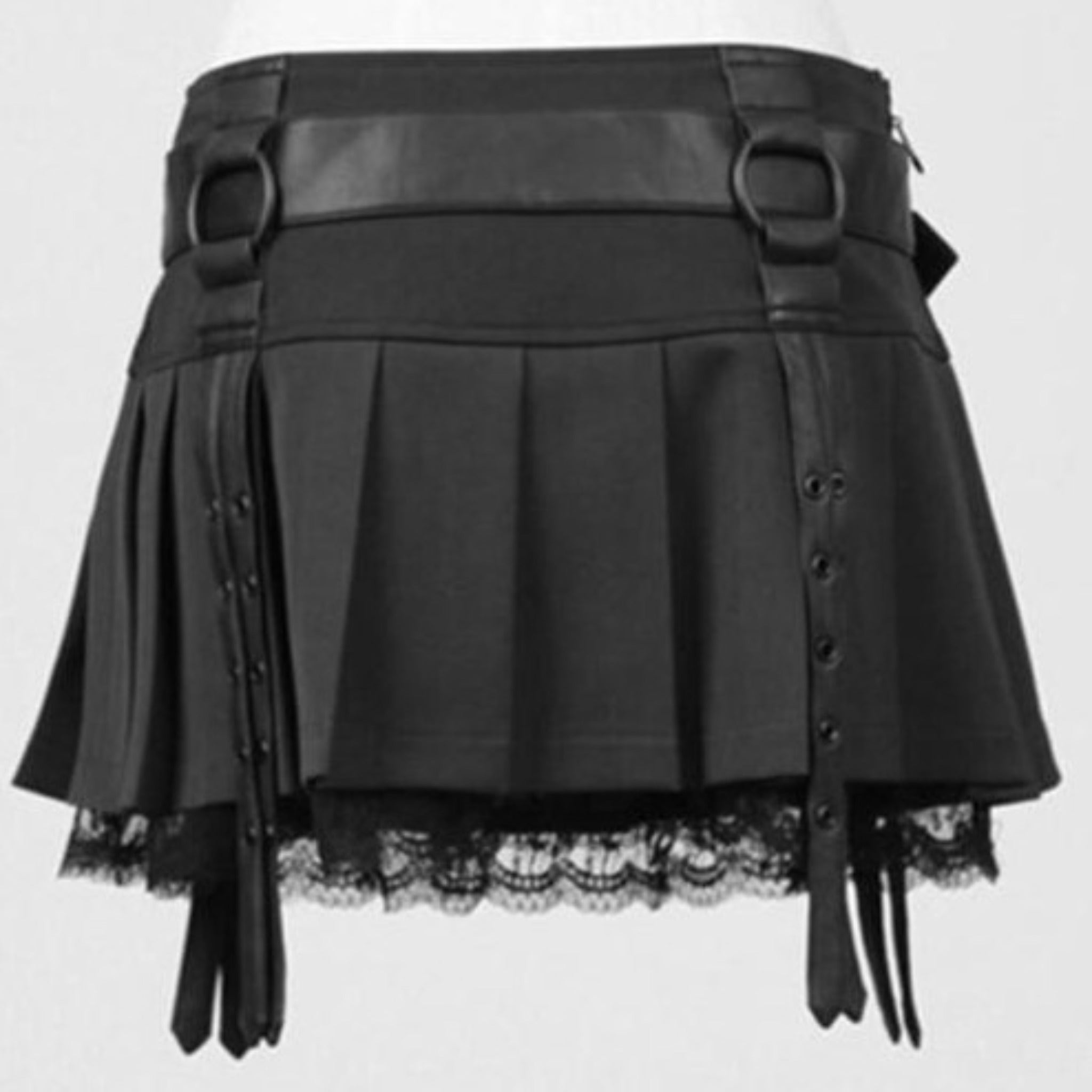 Gothic Pleated Skirt - Goth Mall