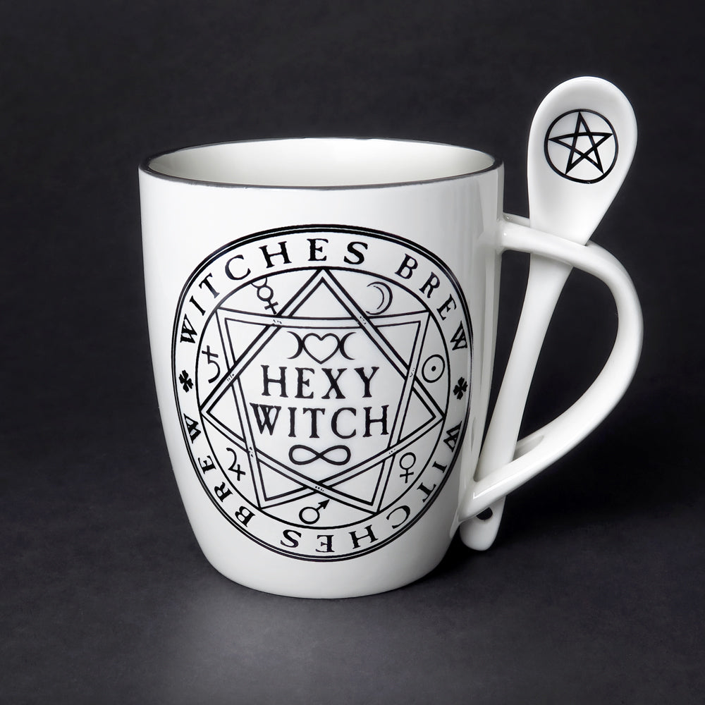 Hexy Witch Mug & Spoon Set - Goth Mall