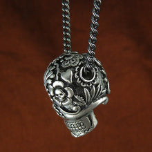 Day of the Dead Sugar Skull Necklace - Goth Mall