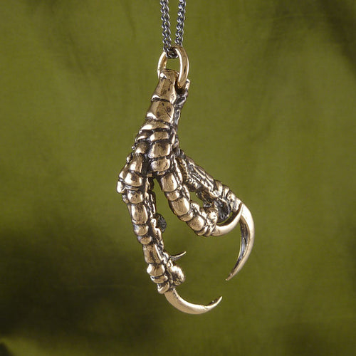 Bronze Crow Talon Necklace - Goth Mall