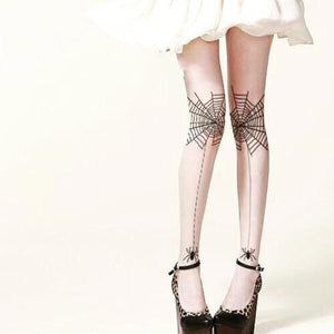 Spider Legs Goth Lolita Tights - Goth Mall